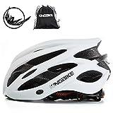 KING BIKE Fahrradhelm Helm Bike Fahrrad Radhelm FüR Herren Damen Helmet Auf Die Helme Sportartikel Fahrradhelme GmbH RennräDer Mountain Schale Mountainbike MTB (Weiß, L(56-60CM))