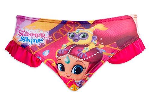 Bikini-shimmer (Shimmer and Shine - Bikini zweiteiligen Badeanzug für Mädchen - 910-587 [Fuchsie - 5 jahre - 110 cm])