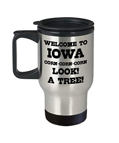 Lustige Iowa Kaffeetasse State Coffee Mug Iowa Home Souvenir Tasse Iowa Kaffee Tasse Iowa Liebhaber Geschenk Iowa Teetasse Reisebecher mit Deckel -