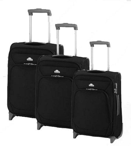 Valise à roulettes travel line-noir-lot de 3–marron-taille xL-light 75 65 53 cm