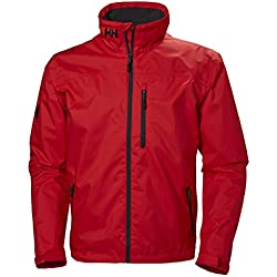 Helly Hansen Crew Midlayer Chaqueta Impermeable, Hombre, Rojo (Alert Red 222), XL