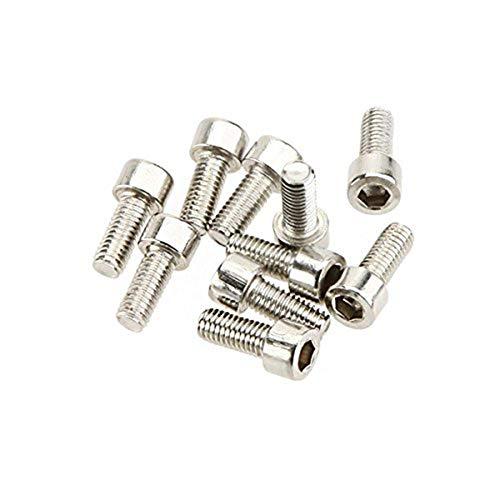 CYNDIE 10 Teile/Satz Fahrräder Wasserflaschenhalter Schrauben Edelstahl 5 mm * 12 mm Gewinde Schrauben für Bracket Rack