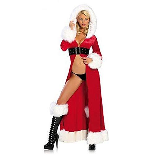 Erwachsene Sexy Für Weihnachtskostüm - Yunfeng weihnachtsmann kostüm Damen Weihnachts-Kostüm Sexy Gewand Stadium Spiel passen, cos Weihnachten Kleid Kostüm Erwachsene Weihnachtsfeier Cosplay Kostüm