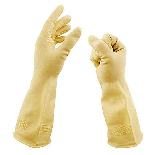 Cuisine cambuse Laboratoire Expérience Outils travail protection laver à laver moyen Épaisseur Acide Bol Résiste Gants Latex Gloves Noir 36 cm