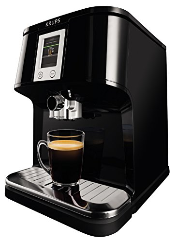 Krups EA850B - Cafetera (Independiente, Negro, Espresso machine, Granos de café, Capuchino, Café expreso, Latte macchiato, Ristretto, 1,7L)