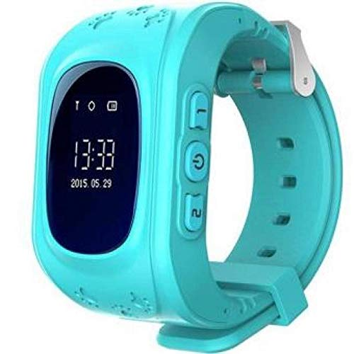 SeTracker Smart Watch for Kids Tracker Micro Sim Card Support Smart Phone Control (Android, iOS), SOS Call - Blue