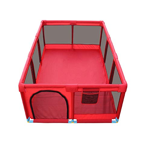 LXYFMS Playpens 10 Panel Large Kinder Antikollisionsspiel Zaun Portable Twin Krabbeln/Ball Pool Kind Schutzzaun (Color : Playpen) -