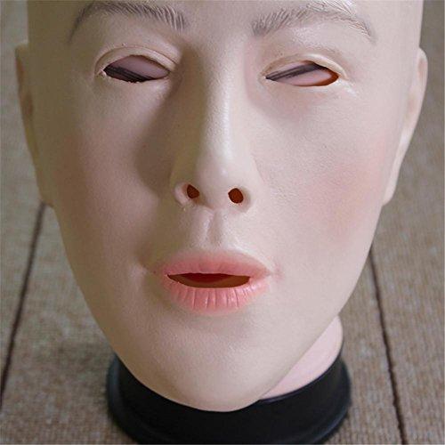 SQCOOL Latex Kahl Schönheit Maske Maske Halloween Stützen Simulation Menschliche Haut Lustige Angst Latex (Kostüme Erwachsene Classic Beauty)
