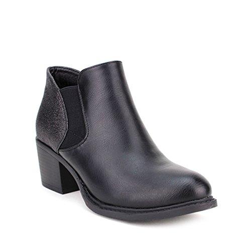 Cendriyon, Bottine Noire SELMANA Chaussures Femme Noir