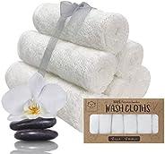 Baby washandjes - 6-pack bamboe washandjes handdoek - Zacht organisch baby-washandje voor moeder - Handdoek vo