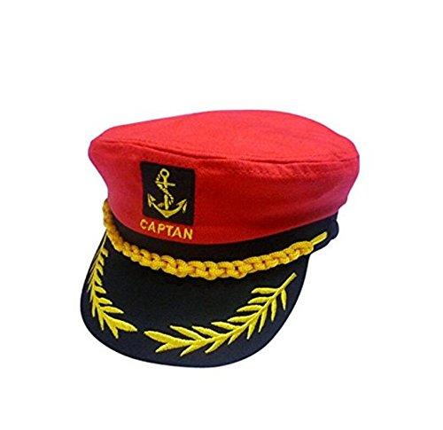 Bener Stickerei Klassische Matrosenmütze Captain Kostüm Yacht ()