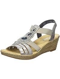 Meleen Sandale Twist - Diamante Coins Pour Femmes / Noir Crocos f7WGzome
