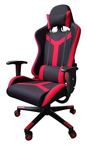 ISS Online Chefsessel, modernes Leder, hohe Rückenlehne, Blau Modern rot