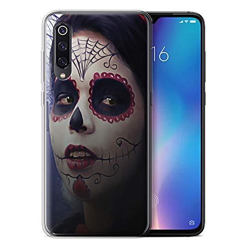 eSwish Gel TPU Hülle/Case für Xiaomi Mi 9 (2019) / Halloween Bilden Muster/Tag Der Toten Festival Kollektion (Halloween 2019 9)
