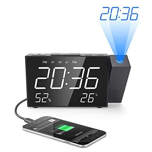 Sinzong Reloj Despertador Radio Digital Proyección Despertador ...