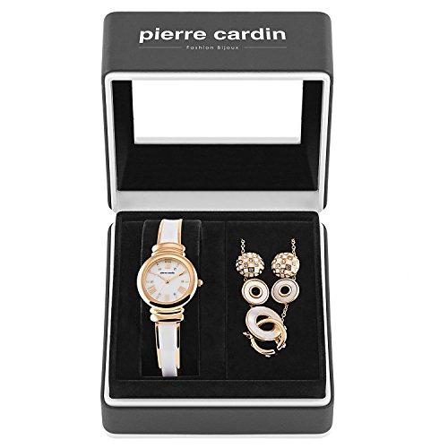 Pierre Cardin Geschenk-Set PCX6007L257 für Damen Roségold/Weiß 4-teilig