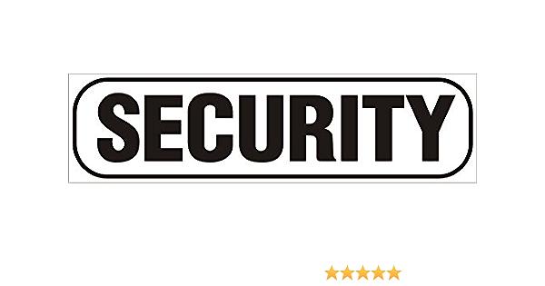 Magnetschild Security 45 X 12 Cm Reflektierend Auto