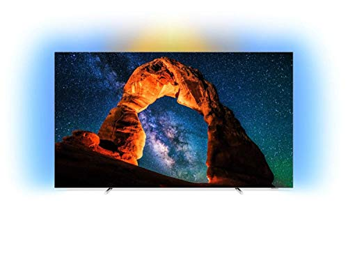 Philips 803 Smart TV OLED 4K UHD من 65 ''، Ambilight، Razor Slim، Android TV [فئة كفاءة الطاقة B]