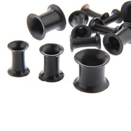 12Pcs Fashion Ohrstöpsel Silikon Gummi Ohr Plug Expander Bahre Silikon Earlet Ohrring Plug Durable