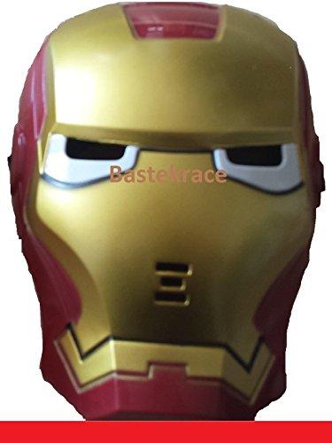 (Masken-Batman-Hulk-Ironman-Spider-mit-LED-Beleuchtung-fuer-Kinder-fuer-Karneval (1 x Ironman))