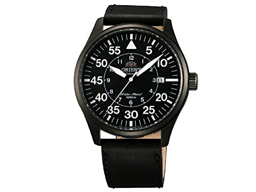 Orient ER2A001B–Watch For Men, Leather Strap, Black