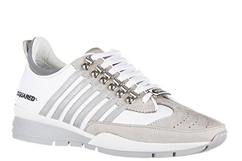 Dsquared2 chaussures baskets sneakers homme en cuir 251 gris Gris