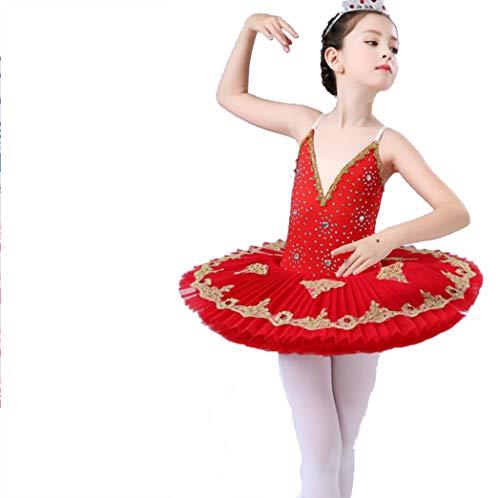 ZYLL Mädchen Ballettkleid, Sling Ballett Rock Pettiskirt Kinder Ballett Tutu ()