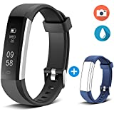 Smart Fitness Band, Yuanguo Fitness Tracker Fitness Wristband, IP67 Health Tracker Activity Tracker Pedometer, Smart Bracelet With Sleep Monitor, Step Calorie Counter, Message Reminder, Camera Controller, Anti-theft For IPhone Samsung & Other Android