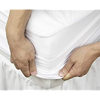 """Cloth Fusion Saviour 2Nd Gen Waterproof Terry Mattress Protector- King Size (72""""X72""""), White"""