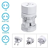 International Travel Adapter All In One - White