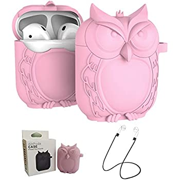 MAS CARNEY AirPods Case Protective Owl Silicone Cover