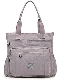 e2af5ebe4cce Nameblue Femme Multi Fonctions Sac à bandoulière Messenger Bag Sacoche en  nylon sac à bandoulière sac