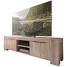 tv lowboard unterschrank fernsehschrank granby 160 cm massivholz holz eiche massiv balkeneiche white wash