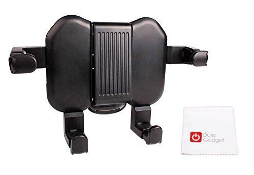 DURAGADGET Auto Kopfstützen Halterung mit Füßen und Seitenklammern + Reinigungs- / Pflegetuch für Samsung Galaxy Tab A SM-T580 | SM-T585 Tablet-PCs