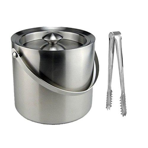 Homyl 3L Eiswürfelbehälter Edelstahl mit Zange und Deckel