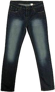 True Face Pantalones vaqueros para niños con pierna recta, de algodón con 5 bolsillos