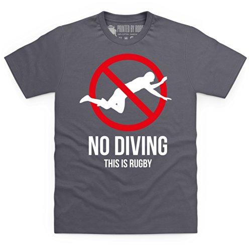 No Diving T-Shirt, Herren Anthrazit