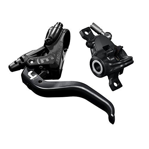 Magura MT4, 2-Finger Aluminium-Leichtbau-Hebel, Links/rechts verwendbar, 2.200 mm Leitungslänge, Einzelbremse, inkl. Zubehör (VE = 1 Stück) Fahrradbremse schwarz, One Size - 3