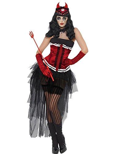 oween Karneval Damen Demonia Teufel Devil Girl 11802, Mehrfarbig Einheitsgröße ()