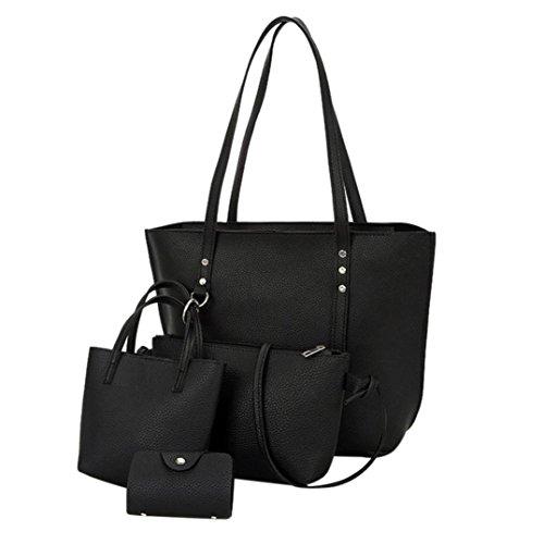 Goosun Damen Handtasche Frauen 4 pcs Kunst Leder -