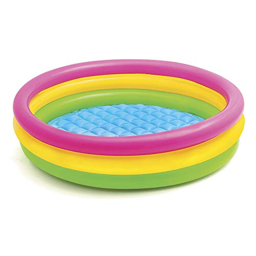 Intex 57412NP - Sunset Glow Baby Pool, 3-Ring, ø 114 x 25 cm