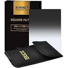 ZOMEi 100x150mm ND8 Z-PRO Serie Filtro Cuadrado Gradual Filtro de Densidad Neutra Gray Compatibles con el Sostenedor de Cokin Z Lee Hitech '4X6'