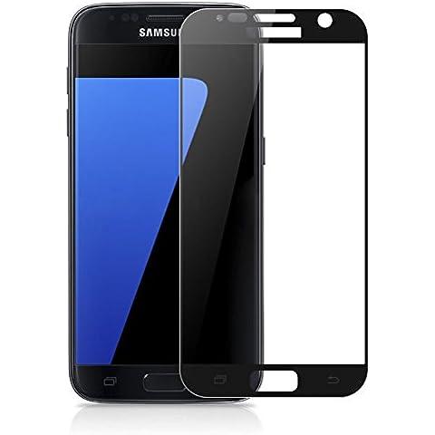 maxhood Galaxy S7cobertura total cristal templado vidrio Protector de pantalla, nuevo 100% todos 2.5d Round Edge Cobertura Total [3d Touch Compatibles] Seda impresión marco protector de cristal para Samsung Galaxy S7