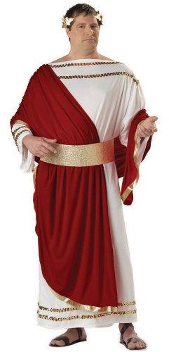 California Costumes 01637 - Römischer Caesar Kostüm Ubergröße Herren Gr: (Römischen Herren Kostüm)