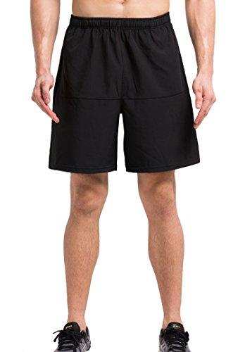 Cody Lundin® Uomo Compressione Interno All'aperto Sport Pantaloncini Formazione Palestra Pallacanestro Casuale sciolto Woven Pantaloni (M, nero)