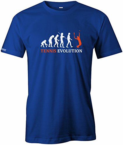 TENNIS EVOLUTION - HERREN - T-SHIRT in Royalblau by Jayess Gr. M