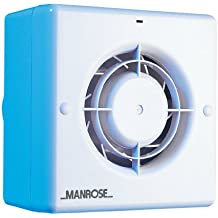"Manrose CF100T Centrifugal Bathroom / Toilet Extractor Fan with Timer for 100mm/4"" Ducting"