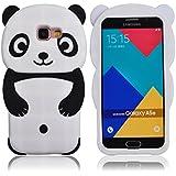 Voguecase® Pour Samsung Galaxy A5 (2016) SM-A510F, TPU Silicone Shell Housse Coque Étui Case Cover (Panda-Noir)+ Gratuit stylet l'écran aléatoire universelle