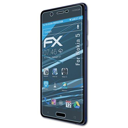 atFolix Schutzfolie kompatibel mit Nokia 5 Folie, ultraklare FX Displayschutzfolie (3X)