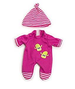 Miniland- Pijama Frio Rosa 21CM Vestido para muñecos de 21 cm, Color (31672)